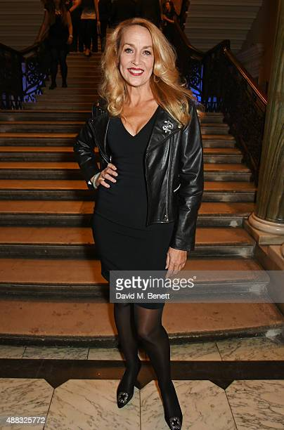Jerry Hall attends the opening reception to celebrate the Ai Weiwei exhibition at The Royal Academy of Arts on September 15 2015 in London England