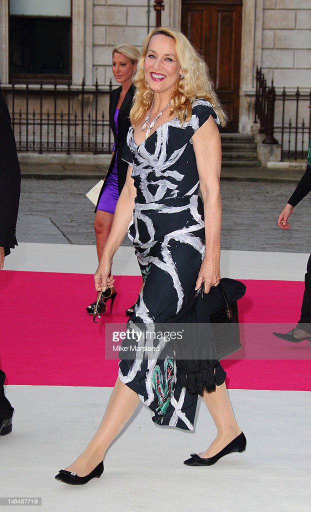 Jerry Hall attends the private VIP view of Royal Academy Summer Exhibition 2012 at Royal Academy of Arts on May 30, 2012 in London, England.
