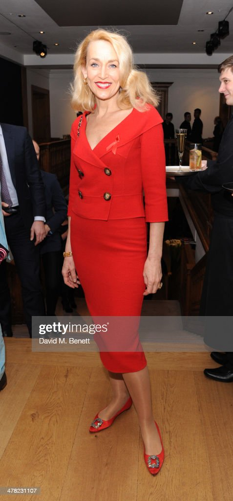 Jerry Hall attends the Terrence Higgins Trust Auction at Christie's on March 12 2014 in London England