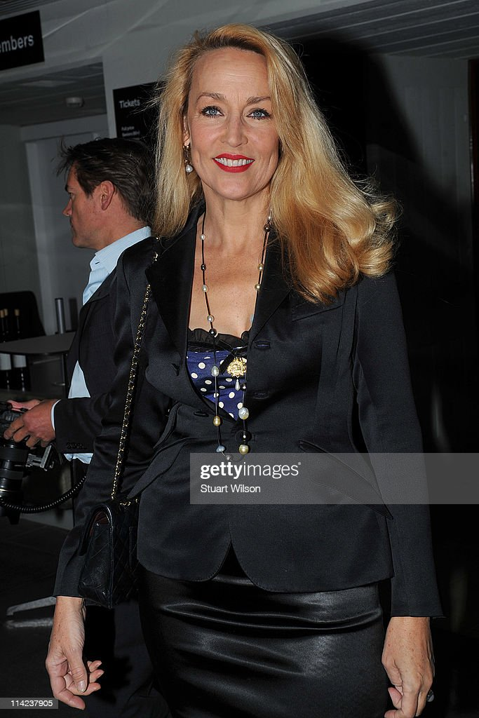 Jerry Hall attends the 'Tracey Emin: Love Is What You Want' Press View at The at The Hayward Gallery on May 16, 2011 in London, England.
