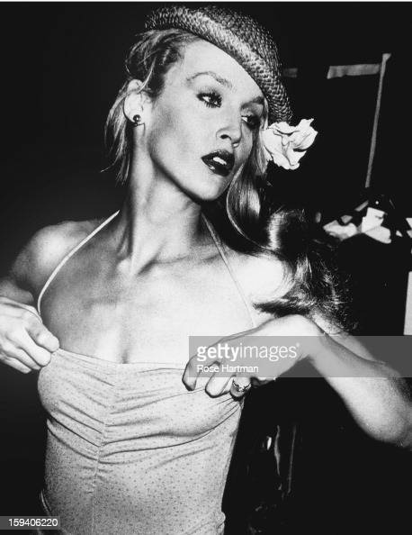 Jerry Hall backstage Krizia fashion show Olympic Towers New York New York 1979