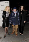 Jerry Hall David Bailey and Catherine Bailey attend the VIP private view of David Bailey Bailey's Stardust at National Portrait Gallery on February 3...