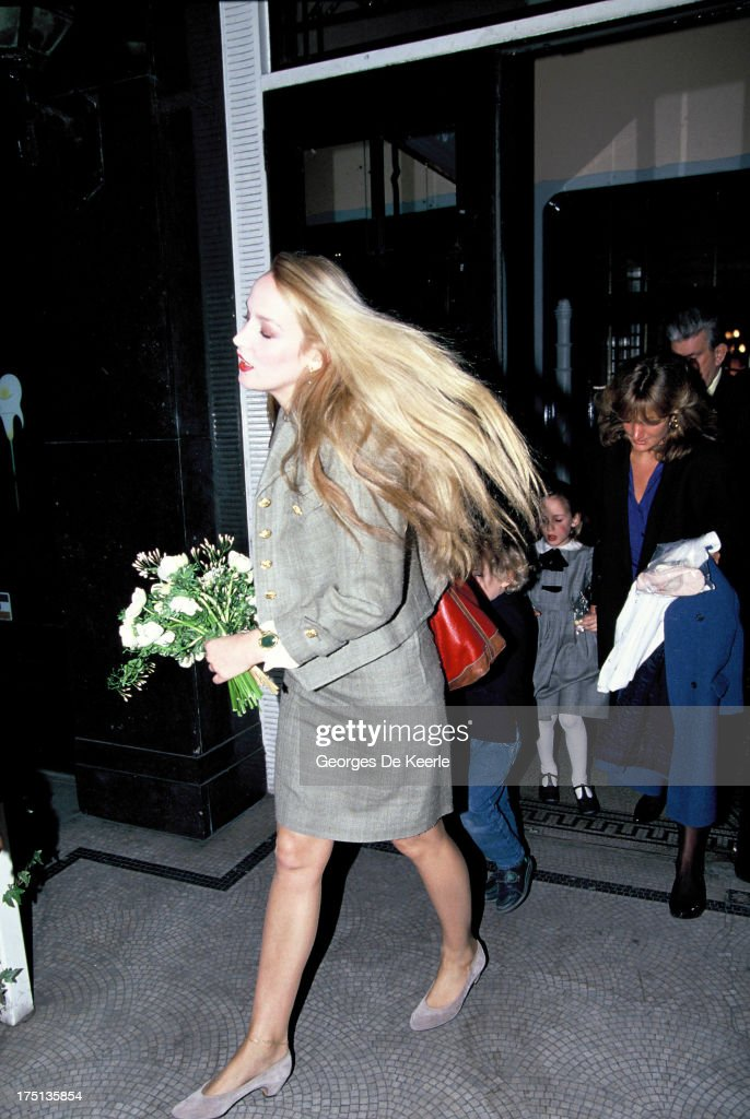 Jerry Hall in 1990 ca in London England