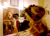 Jerry Hall in 'Les Miserables' during One Amazing Week Jerry Hall Attempts to Break World Record for Number of Theatre Appearences in One Evening...