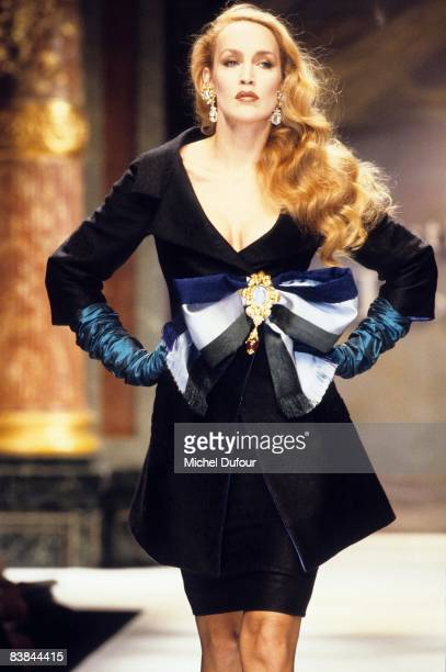 Jerry Hall on catwalk while the Dior high fashion show spring summer 1993 in Paris Jerry Hall just gave an interview to a UK celebrity magazine where...