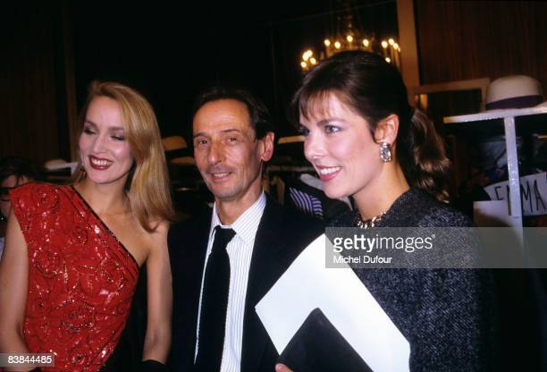 Jerry Hall with Marc Bohan and Pesse Caroline de Monaco backstage Dior fashion show 1996 in Paris Jerry Hall just gave an interview to a UK celebrity...