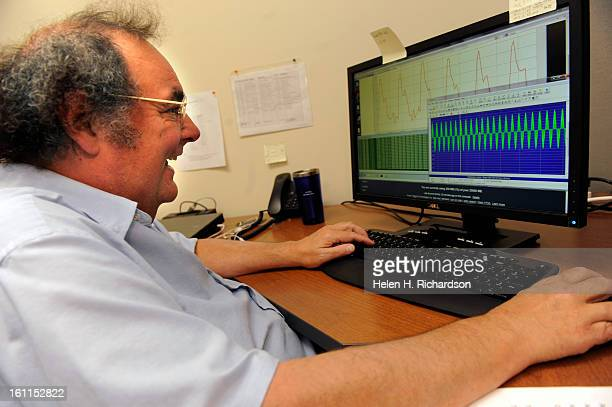 Jerry Hansell system embedded design architect for Power Tagging watches wave forms of signals on his computer that have been injected into their...