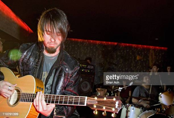 Jerry Horton of Papa Roach during Papa Roach in Concert at Retox Rockbar in New York City November 9 2006 at Retox Rockbar in New York City New York...