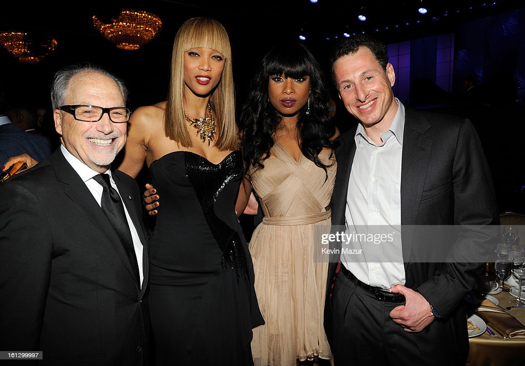 Jerry Inzerillo, Tyra Banks and Jennifer Hudson attend the 55th Annual GRAMMY Awards Pre-GRAMMY Gala and Salute to Industry Icons honoring L.A. Reid held at The Beverly Hilton on February 9, 2013 in Los Angeles, California.