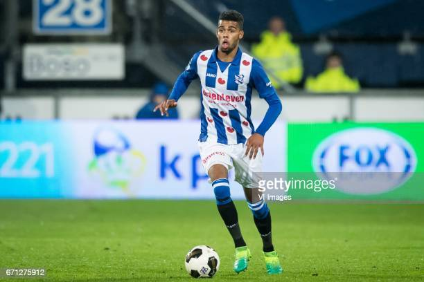 Jerry Jeremiah St Juste of sc Heerenveenduring the Dutch Eredivisie match between sc Heerenveen and Willem II at Abe Lenstra Stadium on April 21 2017...