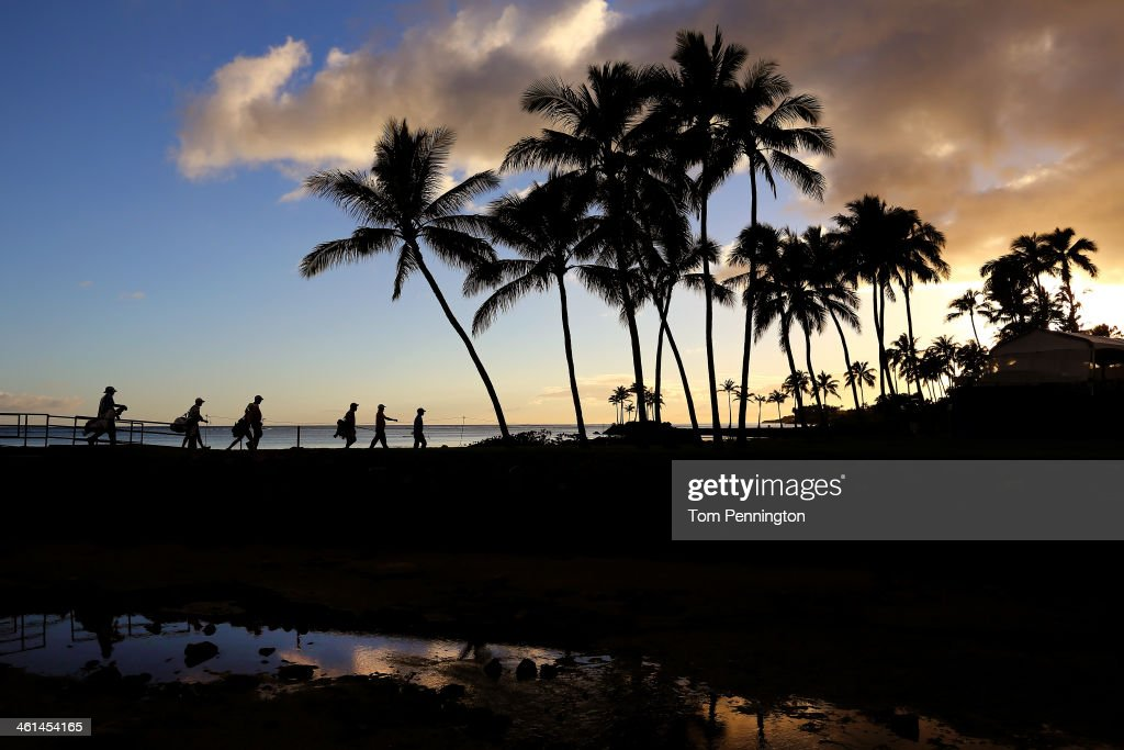 Jerry Kelly plays a hole during the ProAm round prior to the Sony Open in Hawaii at Waialae Country Club on January 8 2014 in Honolulu Hawaii