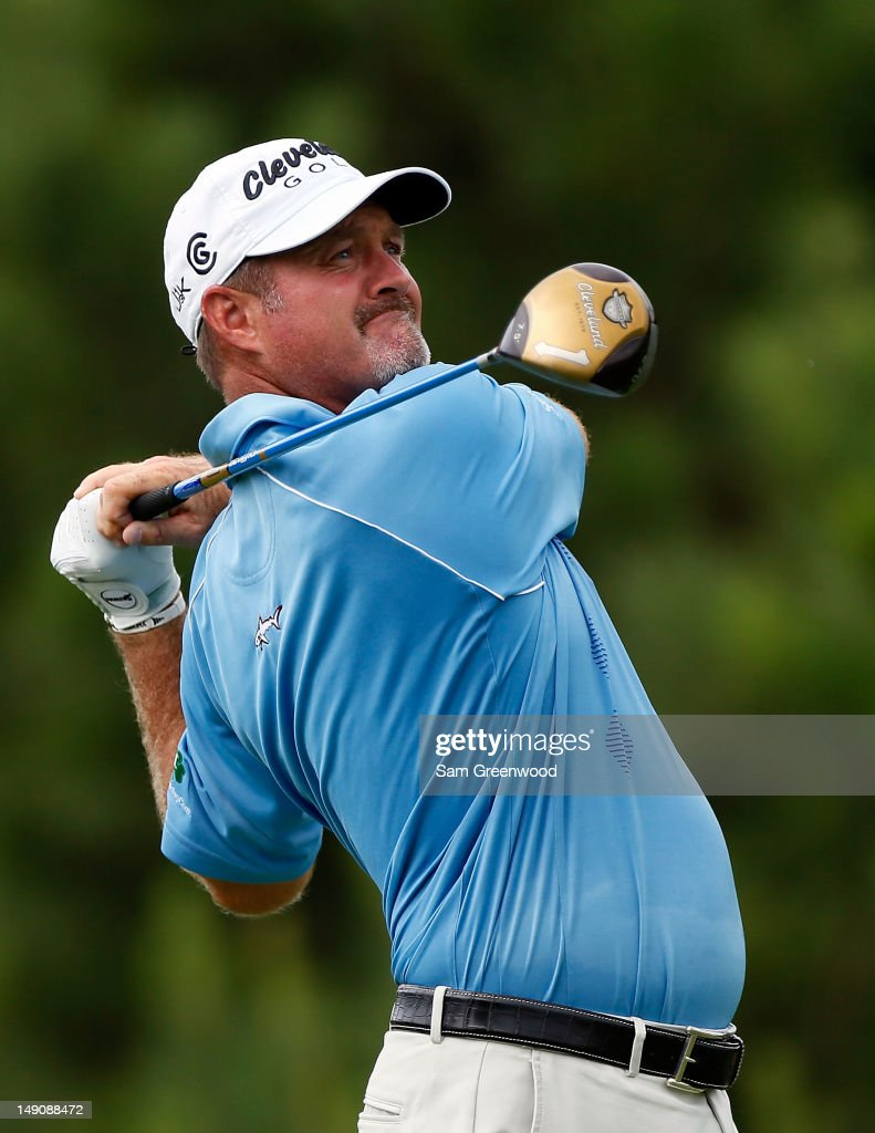 <a gi-track='captionPersonalityLinkClicked' href=/galleries/search?phrase=Jerry+Kelly&family=editorial&specificpeople=208250 ng-click='$event.stopPropagation()'>Jerry Kelly</a> plays a shot on the 5th hole during the final round of the True South Classic at Annandale Golf Club on July 22, 2012 in Madison, Mississippi.