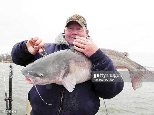 Jerry Kropff goes after big game when he fishes for blue catfish at Grand Lake in northeastern Oklahoma