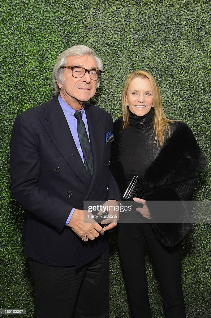 Jerry Lauren and Buffy Birrittella arrive as Ralph Lauren Presents Exclusive Screening Of Hitchcock's To Catch A Thief Celebrating The Princess Grace Foundation at MoMA on October 28, 2013 in New York City.