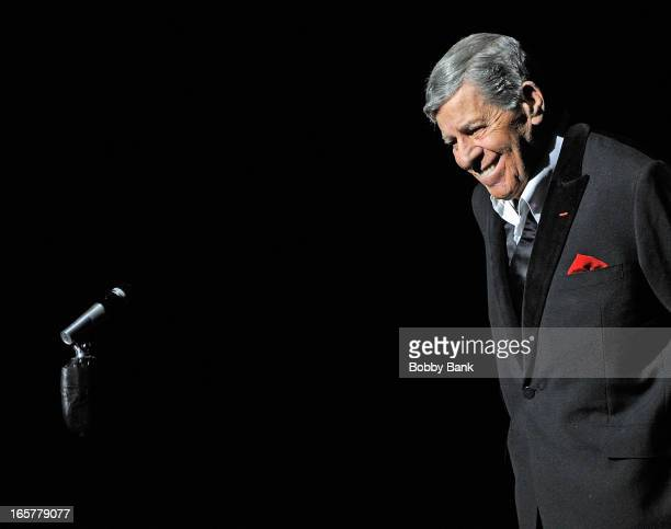 Jerry Lewis attends An Evening with Jerry Lewis 'Dean Me' at Mayo Center Performing Arts on April 5 2013 in Morristown New Jersey
