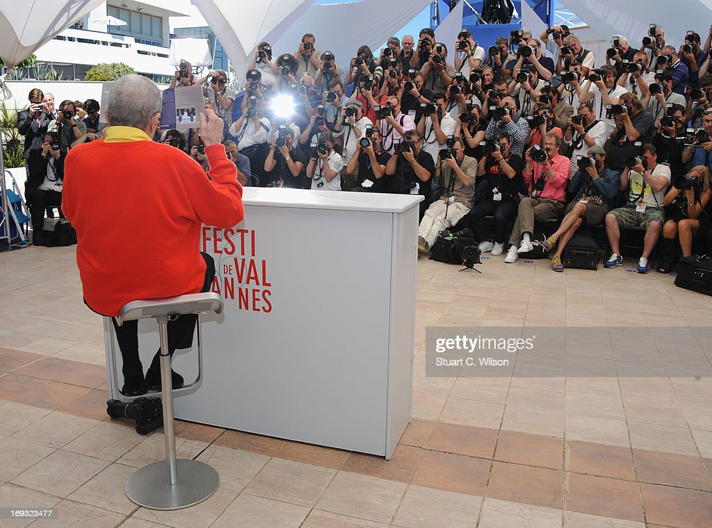 Jerry Lewis attends the 'Max Rose' photocall during The 66th Annual Cannes Film Festival at the Palais des Festivals on May 23, 2013 in Cannes, France.