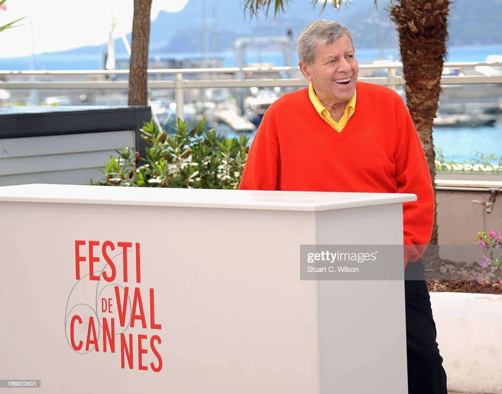 <a gi-track='captionPersonalityLinkClicked' href=/galleries/search?phrase=Jerry+Lewis+-+Comedian&family=editorial&specificpeople=202947 ng-click='$event.stopPropagation()'>Jerry Lewis</a> attends the 'Max Rose' photocall during The 66th Annual Cannes Film Festival at the Palais des Festivals on May 23, 2013 in Cannes, France.