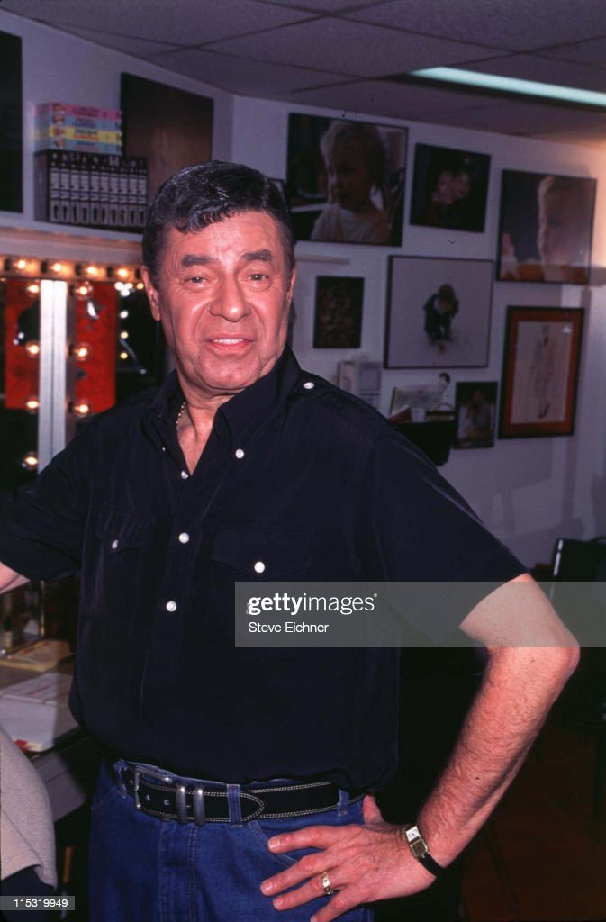 Jerry Lewis during Damn Yankees - 4-12-1995 at Marriott Marquis Theater in New York City, New York, United States.