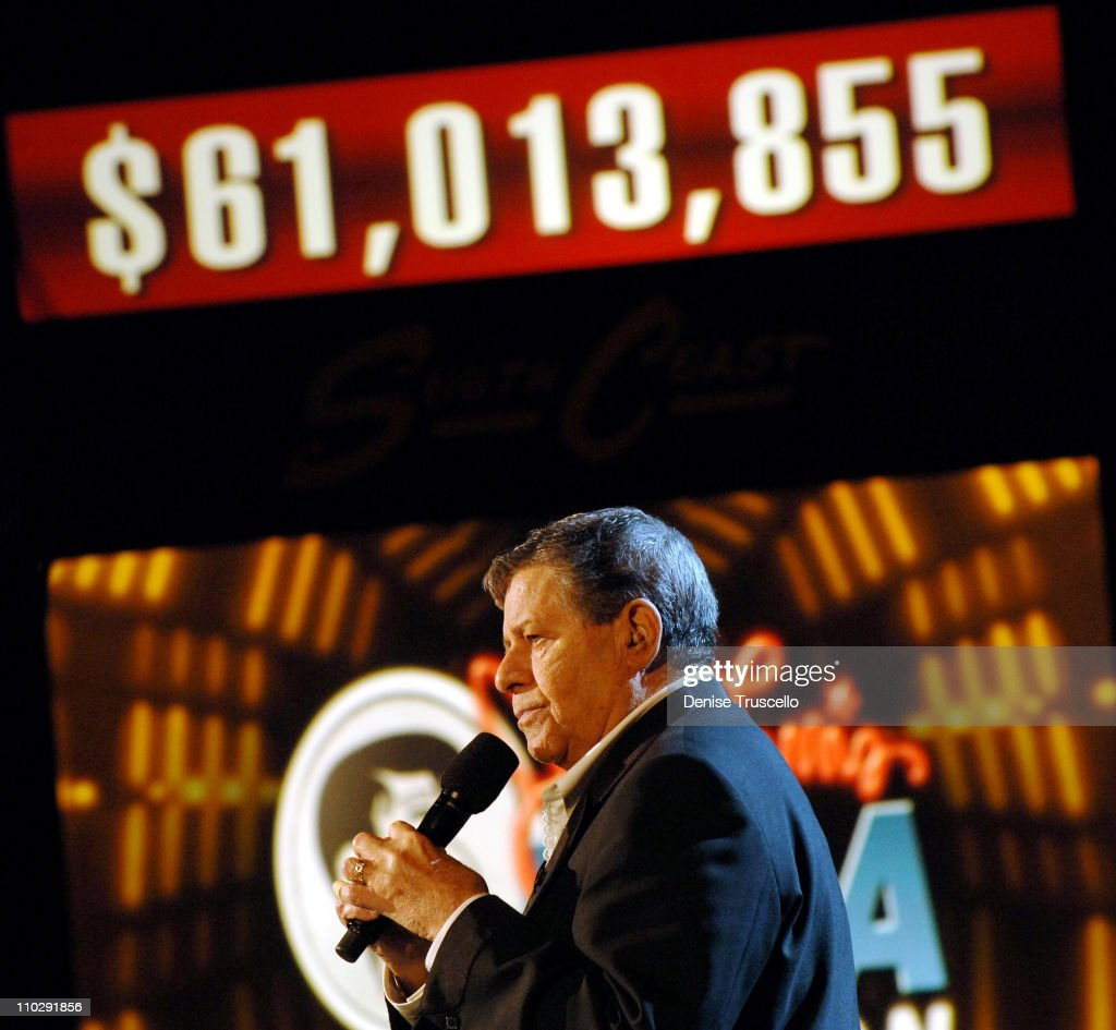 Jerry Lewis during Jerry Lewis MDA Telethon Day 2 at The South Coast Hotel and Casino Resort at South Coast Hotel and Casino Resort in Las Vegas, Nevada.