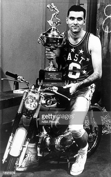 Jerry Lucas of the Cincinnatti Royals wins the Most Valuable Player Trophy for the 1965 NBA AllStar Game in St Louis Missouri NOTE TO USER User...