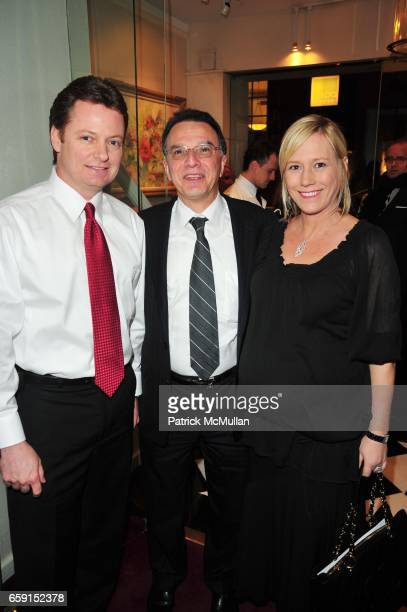 Jerry Mahony John Sanchez and Stacee Mahony attend The EAST SIDE HOUSE SETTLEMENT GALA preview of the 2009 New York International Auto Show at Wally...