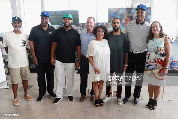 Jerry Manuel Andre Dawson Gary Sheffield Chris Koch Renette Manuel Jerry Lorenzo Darryl Strawberry Della Britton attend the New Era Cap X Fear Of God...