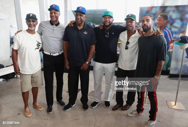 Jerry Manuel Darryl Strawberry Andre Dawson Gary Sheffield Ricky Henderson and Jerry Lorenzo attend the New Era Cap X Fear Of God Pop Up at Alchemist...