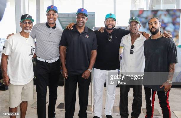 Jerry Manuel Darryl Strawberry Andre Dawson Gary Sheffield Ricky Henderson and Jerry Lorenzo attend the New Era capX Fear Of God Pop Up at Alchemist...