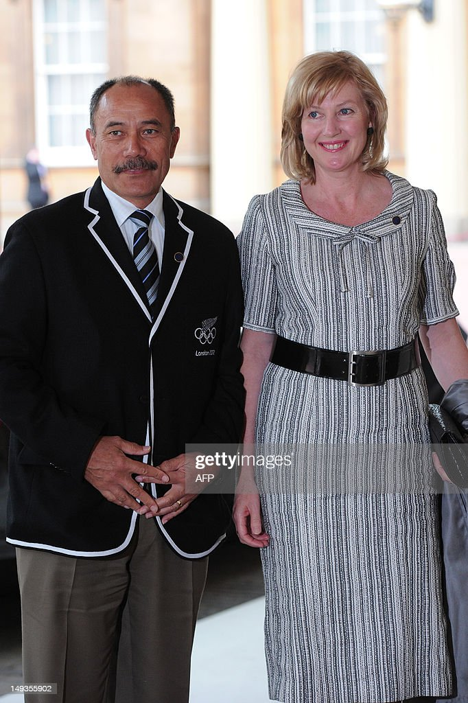 Jerry Mateparae, the Governor General of New Zealand and his wife Janine arrive for the London 2012 Olympic Games reception, hosted by Britain's Queen Elizabeth II, at Buckingham Palace in London on July 27, 2012.