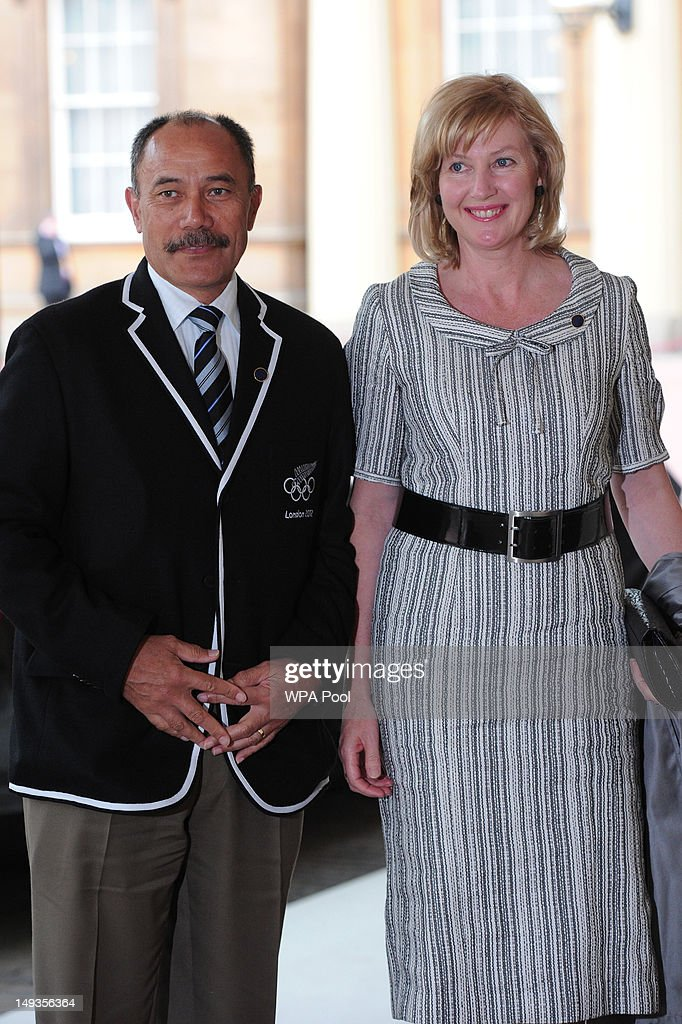 Jerry Mateparae, the Governor General of New Zealand and his wife Janine Mateparae, arrive for a London 2012 Olympic Games reception, hosted by Britain's Queen Elizabeth II, at Buckingham Palace on July 27, 2012 in London, England.