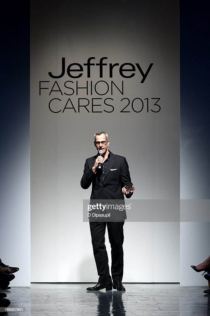 <a gi-track='captionPersonalityLinkClicked' href=/galleries/search?phrase=Jerry+Mitchell&family=editorial&specificpeople=243206 ng-click='$event.stopPropagation()'>Jerry Mitchell</a> attends the Jeffrey Fashion Cares 10th Anniversary Celebration at The Intrepid on April 2, 2013 in New York City.