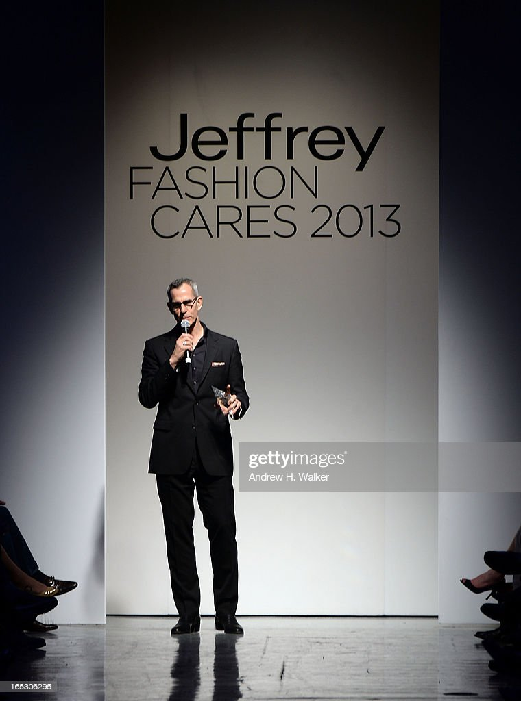 <a gi-track='captionPersonalityLinkClicked' href=/galleries/search?phrase=Jerry+Mitchell&family=editorial&specificpeople=243206 ng-click='$event.stopPropagation()'>Jerry Mitchell</a> speaks at the Jeffrey Fashion Cares 10th Anniversary Celebration at The Intrepid on April 2, 2013 in New York City.