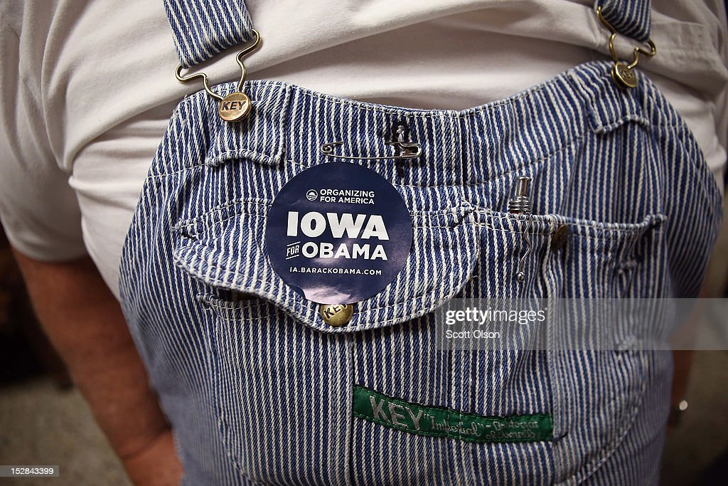 Jerry Nagel waits in line to pick up a ballot during early voting at the Black Hawk County Courthouse on September 27, 2012 in Waterloo, Iowa. Early voting starts today in Iowa where in the 2008 election 36 percent of voters cast an early ballot.