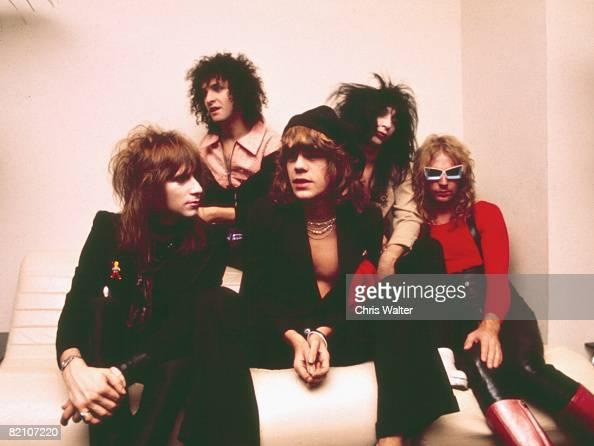 Jerry Nolan Sylvain Sylvain David Johansen Johnny Thunders and Arthur 'Killer' Kane of the New York Dolls 1974