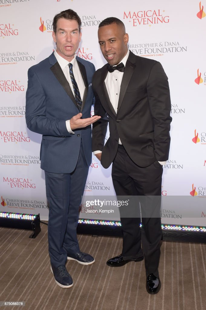 Jerry OConnell and DJ Whoo Kid attend 'A Magical Evening' Gala hosted by The Christopher & Dana Reeve Foundation a at Conrad Hotel on November 16, 2017 in New York City.