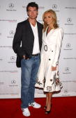 Jerry O'Connell and Giuliana DePandi during MercedesBenz Fall 2004 Fashion Week at Smashbox Studios Day 5 Arrivals at Smashbox Studios in Culver City...
