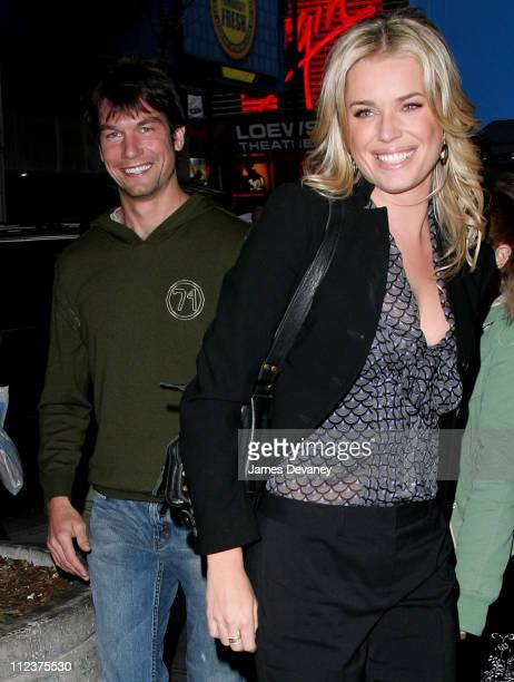 Jerry O'Connell and Rebecca Romijn during Rebecca Romijn Jerry O'Connell and Christina Milian Sighting Outside MTV's 'TRL' Studios April 2 2006 at...