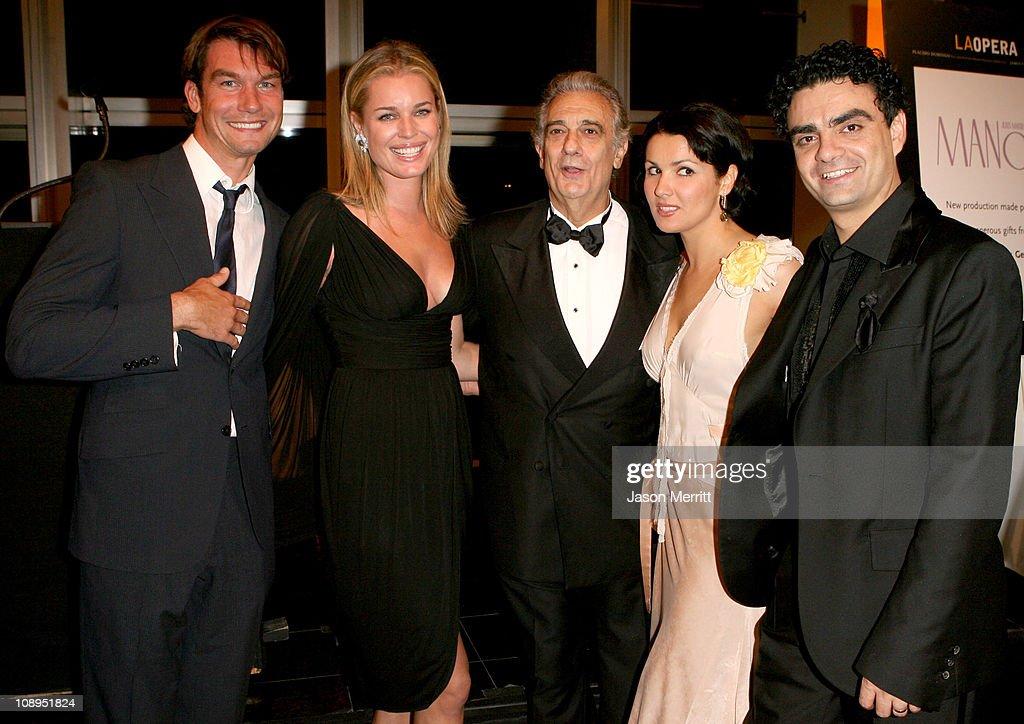 Jerry O'Connell, Rebecca Romijn, Placido Domingo, Anna Netrebko and Rolando Villazon