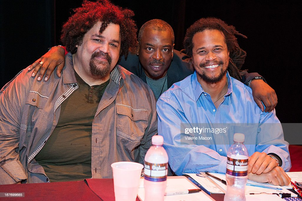 Jerry Quickley, LeVar Burton and Seith Mann attend Get Lit Presents The 2nd Annual Classic Slam at Orpheum Theatre on April 27, 2013 in Los Angeles, California.
