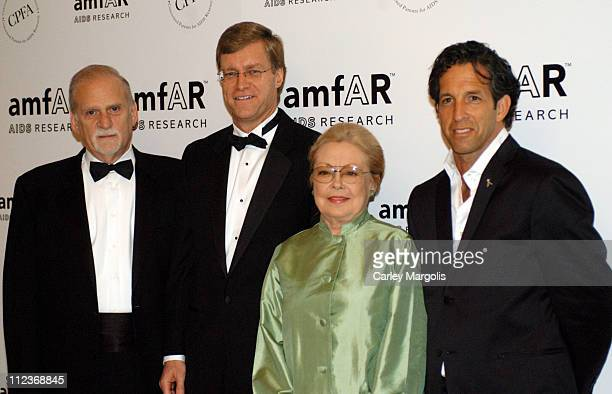 Jerry Radwin CEO amfAR Peter Dolan honoree chairman and CEO of BristolMyers Squibb Company Dr Mathilde Krim amfAR's founding chairman and chairman of...