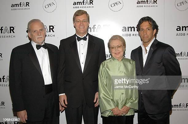 Jerry Radwin CEO of amfAR Peter Dolan chairman/CEO of BristolMyers Squibb Dr Mathilde Krim chairman of amfAR and Kenneth Cole at amfAR's New York...