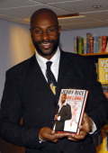 Jerry Rice during Jerry Rice Signs Copies of His New Book 'Go Long' January 16 2007 at Borders in New York City New York United States