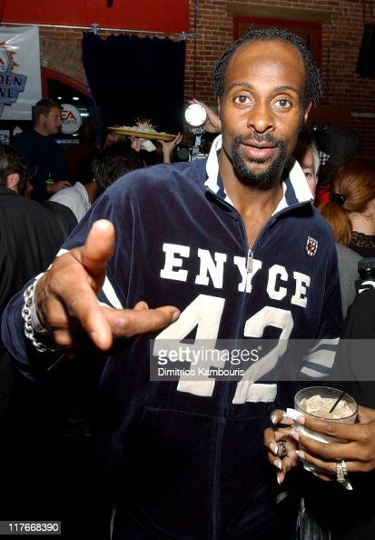 Jerry Rice during Super Bowl XXXVII EA Sports Ninth Annual Football Videogame Tournament at Axiom Nightclub in San Diego California United States
