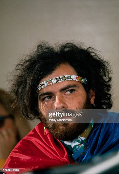 Jerry Rubin one of the Chicago 7 at a hearing of the House UnAmerican Activities Committee
