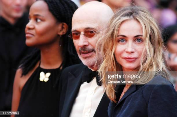 Jerry Schatzberg and Emmanuelle Beart during 2004 Cannes Film Festival De Lovely Premiere
