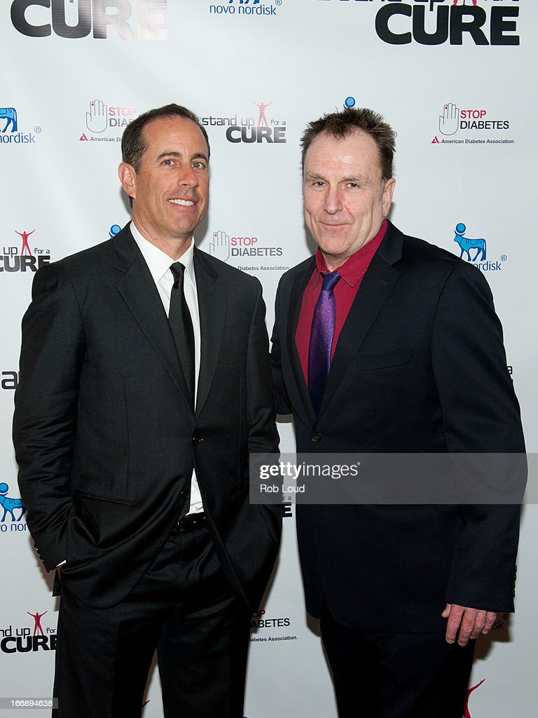 Jerry Seinfeld and Colin Quinn attend Stand Up For a Cure at Madison Square Garden on April 17, 2013 in New York City.