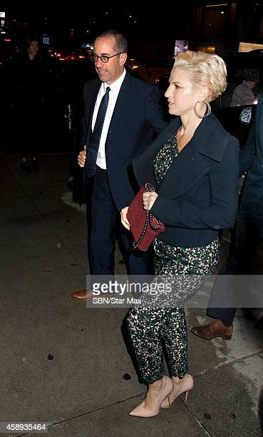 Jerry Seinfeld and Jessica Seinfeld are seen on November 12 2014 in New York City