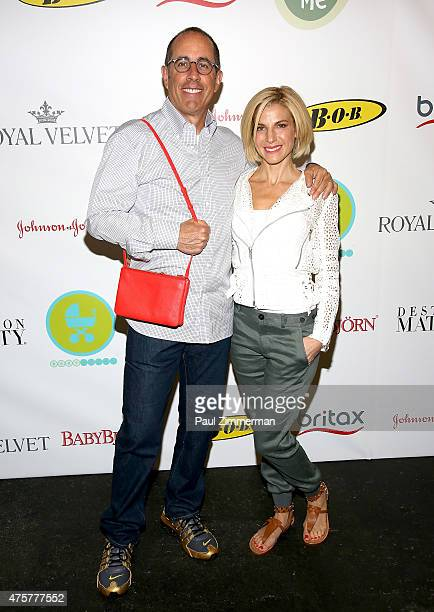 Jerry Seinfeld and Jessica Seinfeld attend the 2015 Baby Buggy Bedtime Bash at Victorian Gardens at Wollman Rink Central Park on June 3 2015 in New...