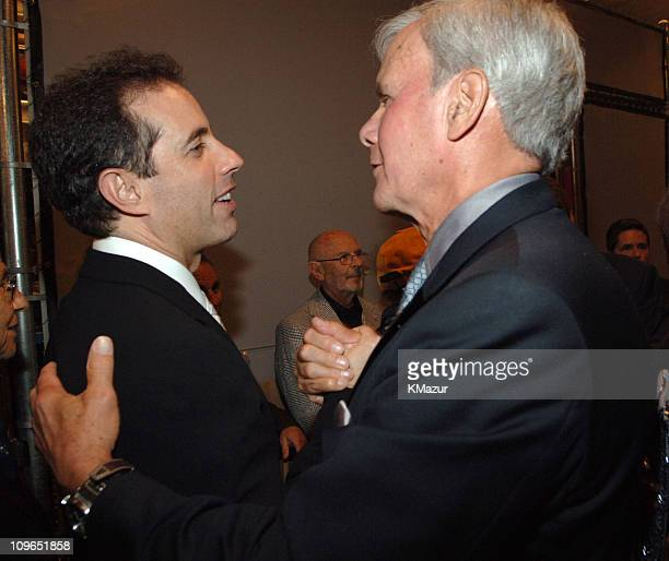 Jerry Seinfeld and Tom Brokaw during Jerry Seinfeld and Paul Simon Perform One Night Only A Concert For Autism Speaks Backstage and Audience at Kodak...