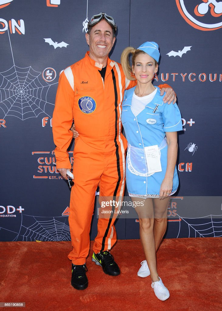 Jerry Seinfeld and wife Jessica Seinfeld attend the GOOD+ Foundation's 2nd annual Halloween Bash at Culver Studios on October 22, 2017 in Culver City, California.